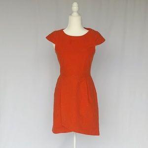 Kate Spade Saturday Orange Linen Wrap Dress